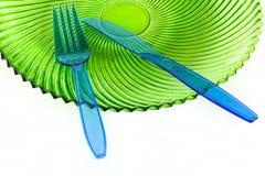 Plast- cultlery Arkivbild