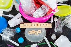 Plast- för återanvändning Arkivfoton