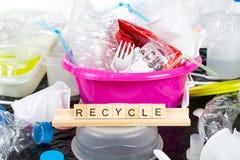 Plast- för återanvändning Arkivfoto