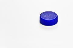 plast- för blått lock Arkivbild