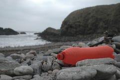Plast- förorening i hav Arkivfoton