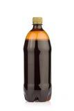 Plast- flaska av öl Royaltyfri Fotografi