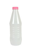 Plast- flaska för mjölkaktiga drinkar Royaltyfria Bilder