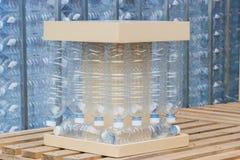 Plast-flaskor, begrepp av återanvändning av tom använd plast- buteljerar plast- inte-använda flaskor Royaltyfri Fotografi