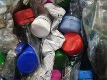Plast-flaskor i bal Royaltyfri Foto