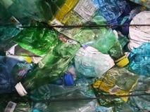 Plast-flaskor i bal Fotografering för Bildbyråer