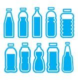 Plast- flaskuppsättning Royaltyfri Fotografi