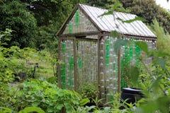 Plast- flaskväxthus arkivfoton