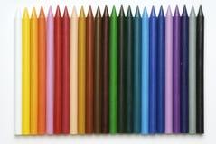 Plast- färgpennor Royaltyfri Foto