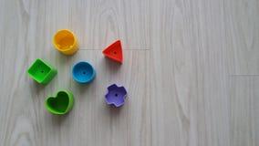 Plast- geometriska stycken Arkivbilder