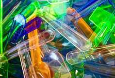 Plast- glassskedar Royaltyfri Foto