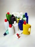 Plast- inhemska behållare Arkivbilder