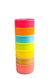 Plast- kapsyler Royaltyfri Fotografi