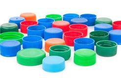 Plast- kapsyler Arkivbild