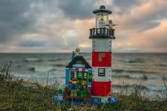 Plast- konstruktionsleksaker för färgrik lego Royaltyfri Fotografi