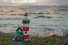 Plast- konstruktionsleksaker för färgrik lego Royaltyfria Foton