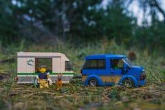Plast- konstruktionsleksaker för färgrik lego Royaltyfri Bild