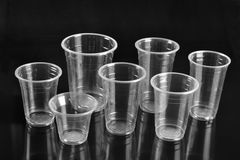 Plast-koppar Arkivfoton