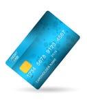 Blåttkreditkort arkivfoto