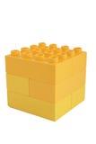 Plast- kub Royaltyfria Foton