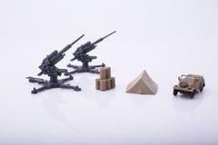 Plast- leksakkanon Arkivbilder