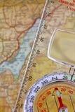 Plast- magnetisk kompass Royaltyfri Foto