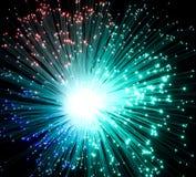 Plast- optiska fibrer Arkivbild