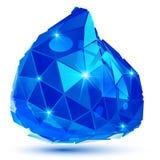 Plast- pixilated dimensionellt invecklat objekt, prickig geometr royaltyfri illustrationer