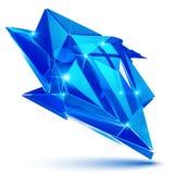 Plast- pixilated dimensionellt invecklat objekt, syntetisk dott vektor illustrationer