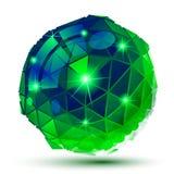 Plast- pixilated glansig modell för tech som 3d är reflekterande Vektor Illustrationer