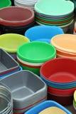 Plast- produkter för hem arkivfoto