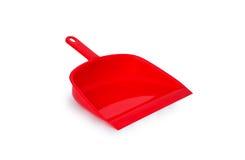 Plast- röd dammvårdare - Arkivfoto