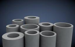 Plast-rör för uppvärmningsystem royaltyfri foto