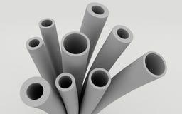 Plast-rör för vattenförsörjning stock illustrationer