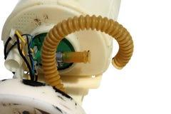 Plast- rörböjelse av defekt elektroniskt bränsle för pumptik Royaltyfri Bild