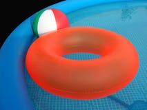 Plast- simbassäng Arkivbilder