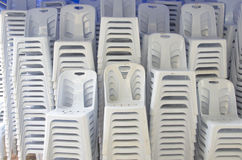 Plast-stolar Royaltyfria Bilder