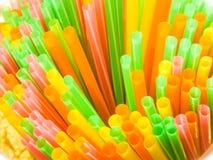 Plast- Straw Ban! Säg inte till plast-! royaltyfria bilder