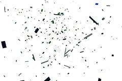 Plast- tegelstenexplosion Royaltyfria Bilder