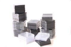 Plast- tomma CD- och DVD-askar Fotografering för Bildbyråer