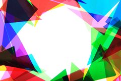 Plast- triangelbakgrund för färg Fotografering för Bildbyråer