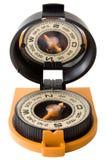 Plast- turist- kompass med spegeln Fotografering för Bildbyråer