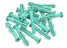 Plast- väggankare Arkivbild