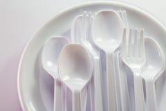 Plast- ware Royaltyfri Bild