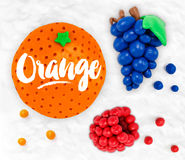 Plastelin owoc pomarańczowe Obraz Stock
