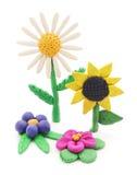 Plastelina kwiaty Zdjęcie Royalty Free