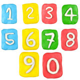 Plasteliny liczby set Zdjęcie Stock