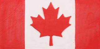 Plastellinaflagga av Kanada Arkivbild