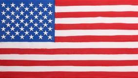 Plastellinaflagga av USA Arkivfoton