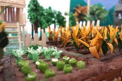 Plastellinamodell av en lantgård Royaltyfri Fotografi